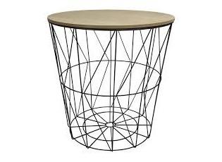 Odkládací stolek Cylinder black - Ø 40*40cm