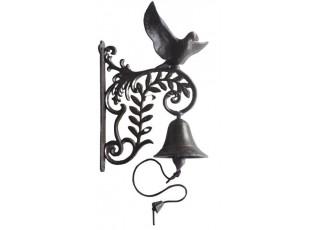 Litinový zvonek s ptáčkem - 20*15*25cm