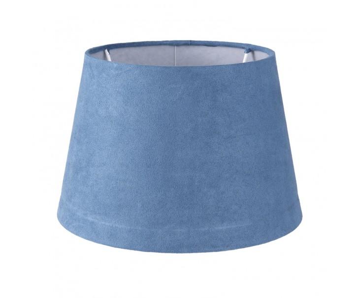 Modré semišové stínidlo - Ø 20*13 cm/ E27