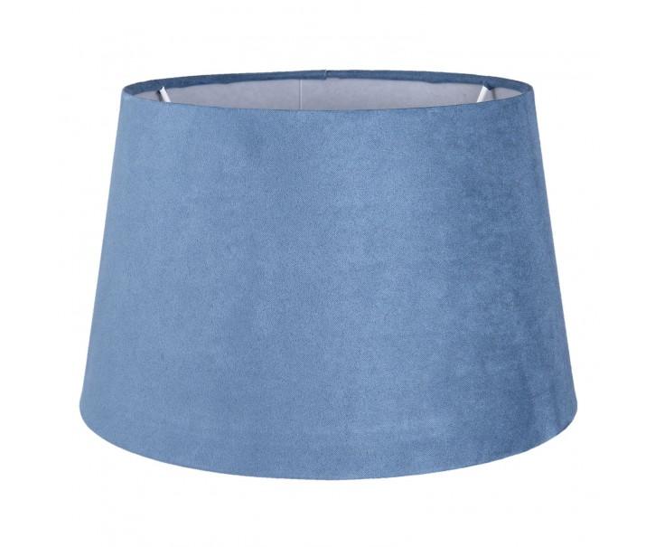 Modré semišové stínidlo - Ø 25*15 cm/ E27