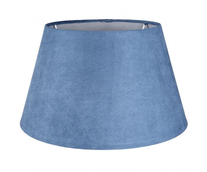 Modré semišové stínidlo - Ø 30*18 cm/ E27
