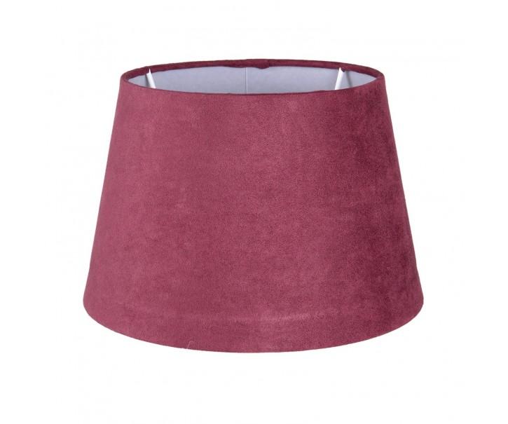 Vínové semišové stínidlo - Ø 20*13cm /E27