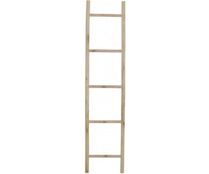 Dřevěný přírodní věšák na ručníky žebřík - 36,5*3,5*160 cm
