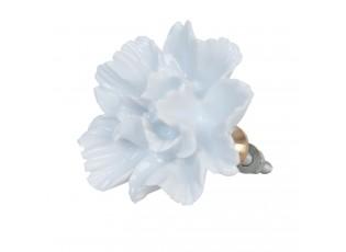 Keramická úchytka květ bílý - Ø 5 cm