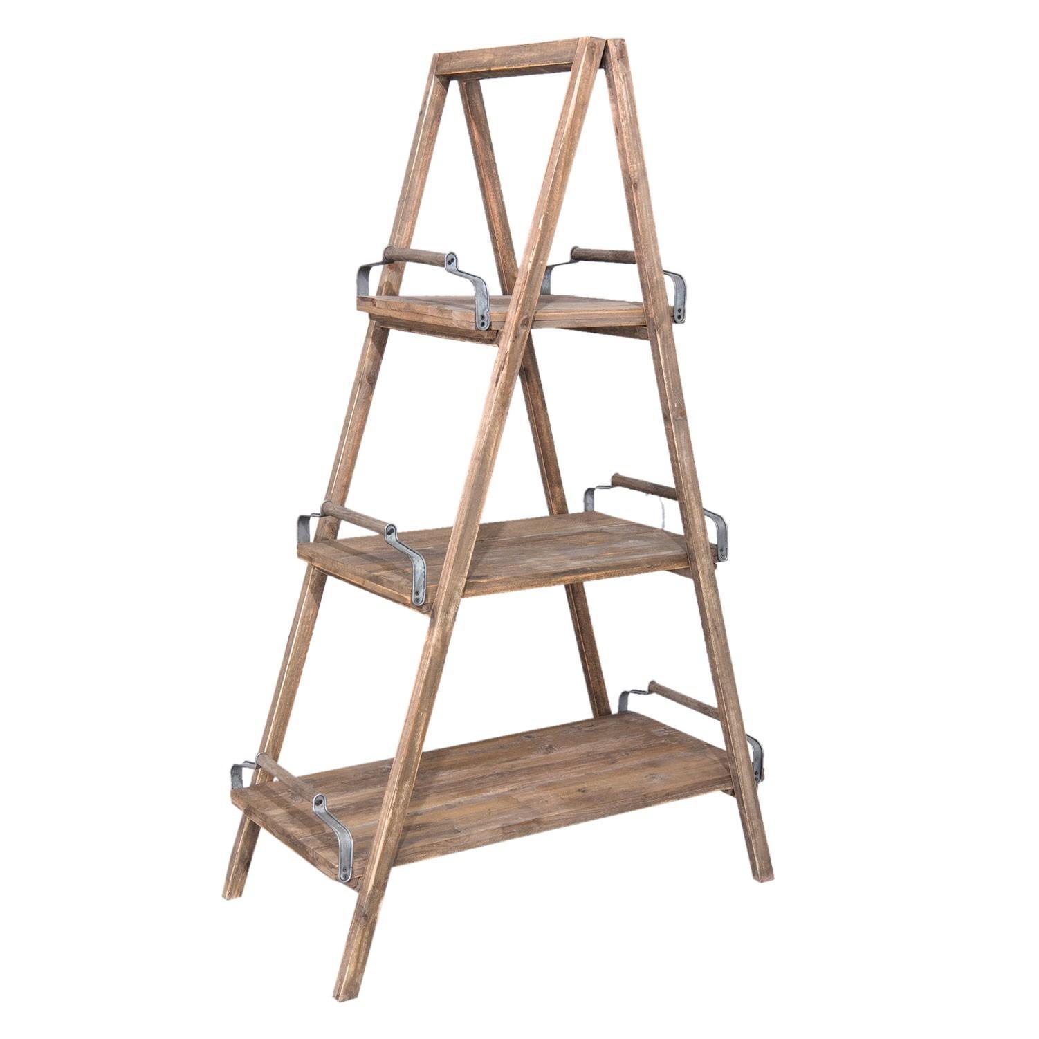 Dřevěný policový regál Wooden - 100*50*164 cm
