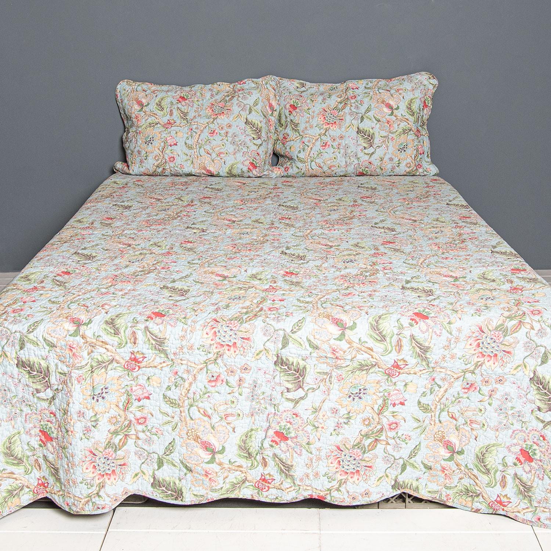 Přehoz na dvoulůžkové postele s 2povlaky Flowers - 230*250/ (2) 50*70 cm
