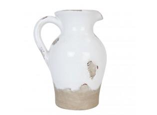 Dekorační keramický džbán s patinou Antique - 15*13*20 cm