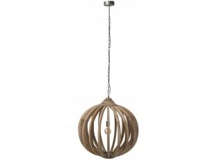 Dřevěné stropní světlo Ball Bars - Ø 70*178 cm