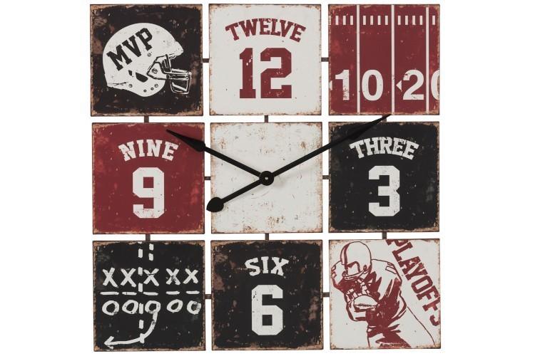 Kovové nástěnné hodiny Baseball - 81*81cm