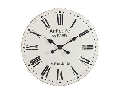 Kovové nástěnné hodiny Antiquité de Paris - Ø60cm