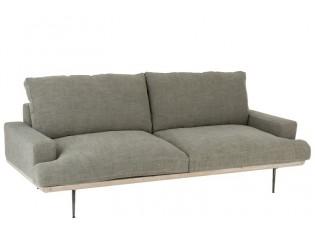 Zelené 2-místná pohovka Olive Green  -  220*98*67 cm