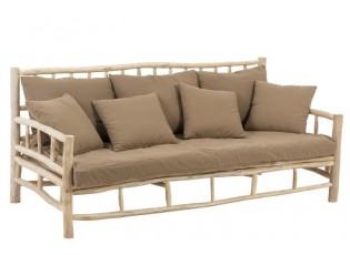 Hnědá 3-místná dřevěná pohovka Teak  - 200*100*93 cm
