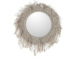 Boho zrcadlo Macrame - Ø57 cm