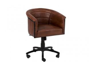 Kožená pojízdná kancelářské křeslo Thibo - 65*65*80 cm