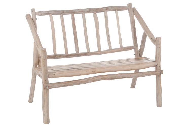 Dřevěná lavice s opěradlem Branches - 110*66*87cm