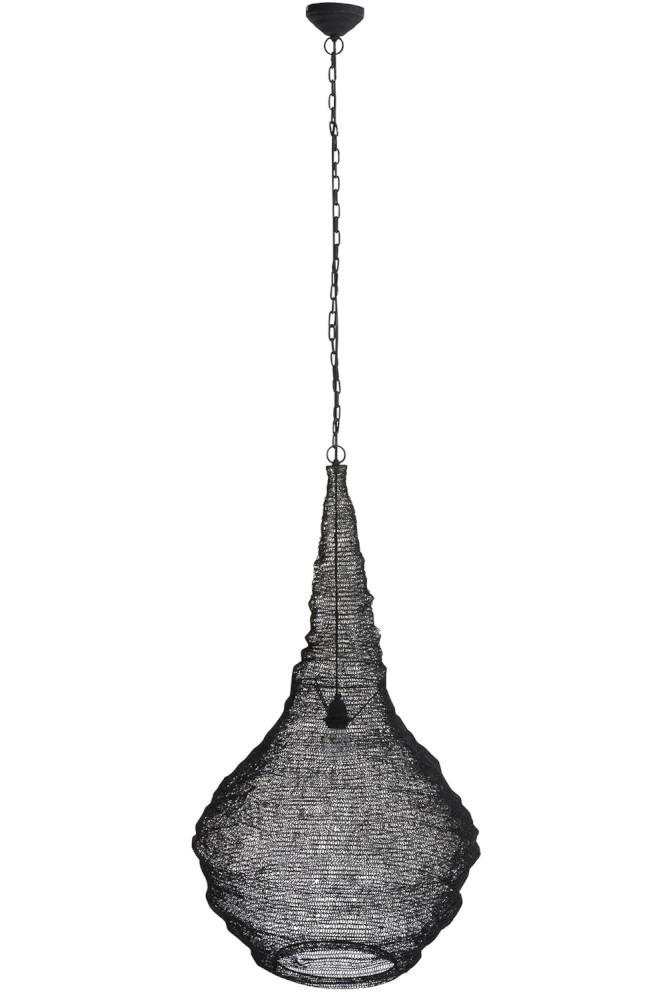 Drátěné stropní světlo Matte black - Ø 50*89 cm