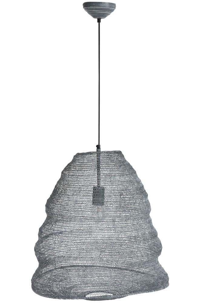 Šedé drátěné stropní světlo Matte grey - Ø 50*52 cm