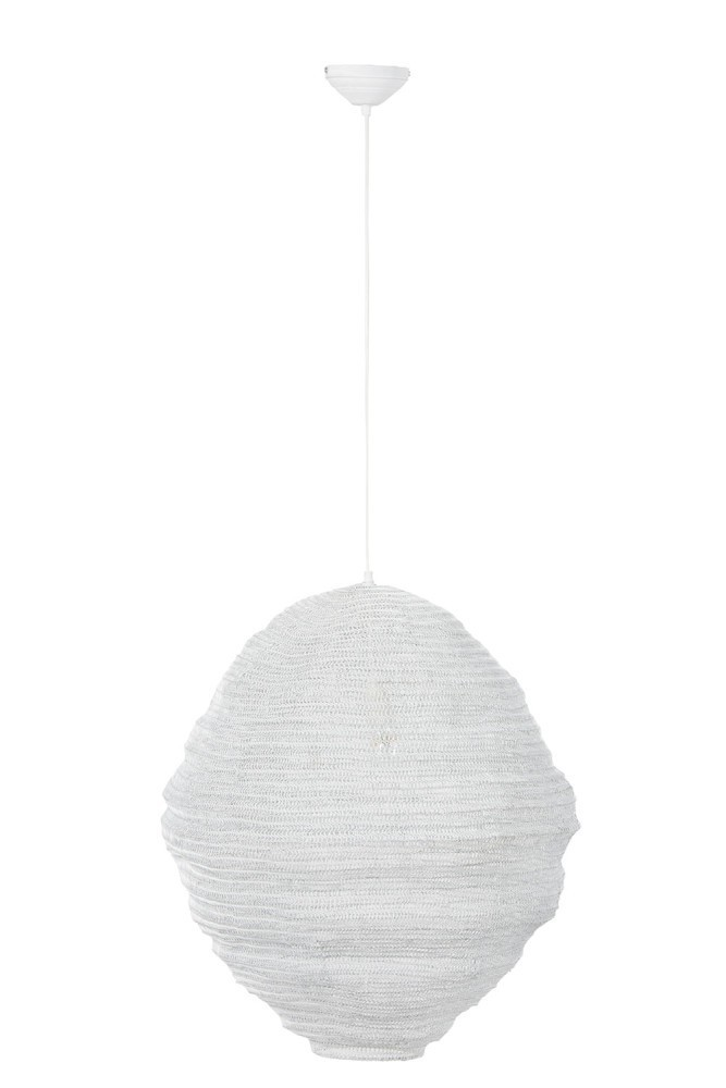 Bílé drátěné stropní světlo Gauze white - Ø 60*64 cm