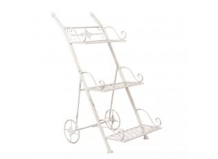 Okrasný stojan na květiny vozík - 50*37*82 cm