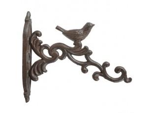 Závěsný litinový hák s ptáčkem - 21*19*19cm