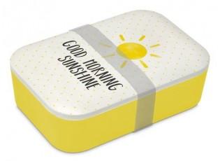 Bambusový svačinový box Good Morning Sunshine - 20*13*6,5cm