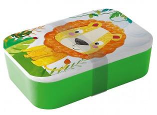 Bambusový svačinový box Happy Lion - 20*13*6,5cm