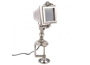 Stříbrná stolní lampa Industriale - 50*19*20 cm