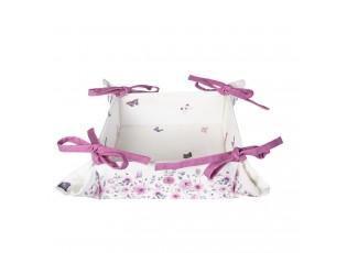 Oboustranný košík na pečivo Roses and butterflies - 35*35*8 cm