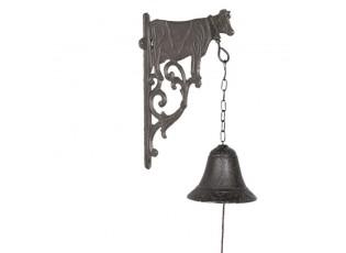 Litinový zvonek s krávou Cow - 10*19*25 cm