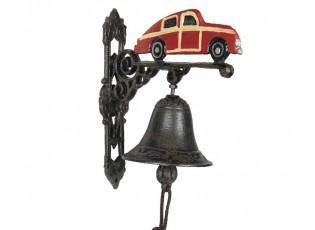 Litinový zvonek s aute Car - 19*11*21 cm