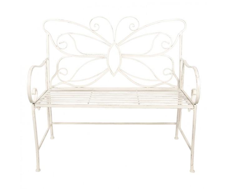 Kovová skládací lavice Butterfly - 108*55*99 cm
