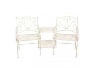 Kovová lavice 2křesla+stolek - 160*69*92 cm