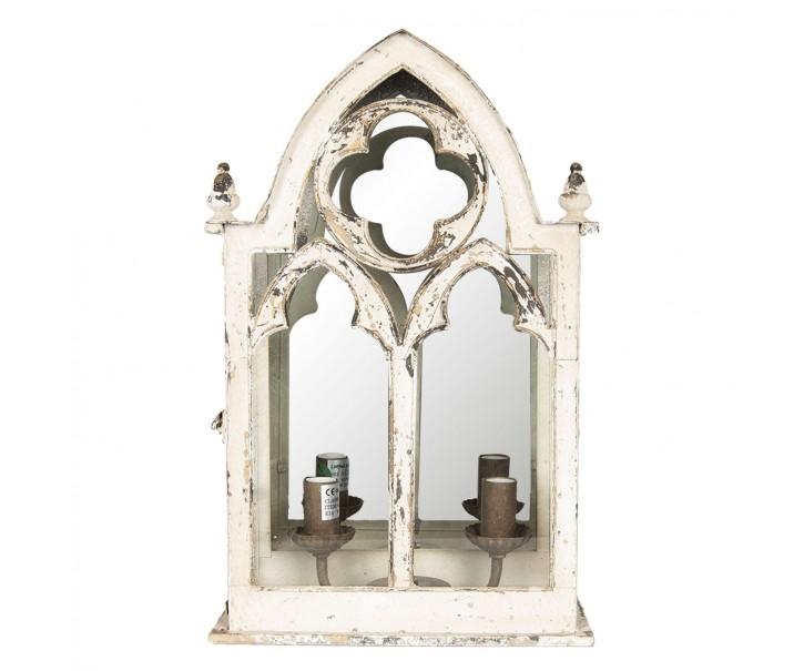 Bílé nástěnné vintage světlo Okno - 31*16*49 cm