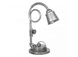 Stříbrná kovová stolní lampa Design 1- 26*42*61 cm