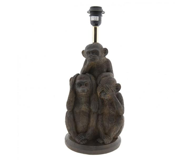 Hnědá noha k lampě Monkey - Ø30*59 cm E27 max 60w