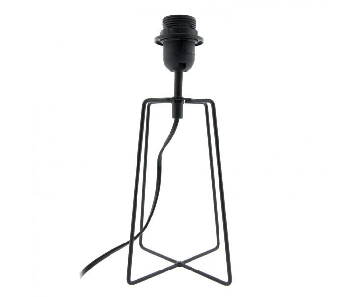 Černá kovová noha k lampě Blackin - 15*15*29 cm / E27/ max 40 Watt