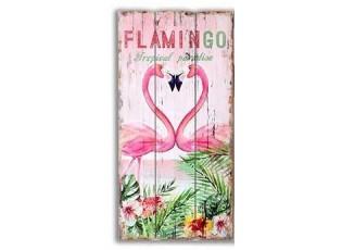 Nástěnná dřevěná cedule Flamigo - 30*60cm