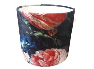 Sametové květované stínidlo na lampu Flower - Ø 25*23 cm / E27