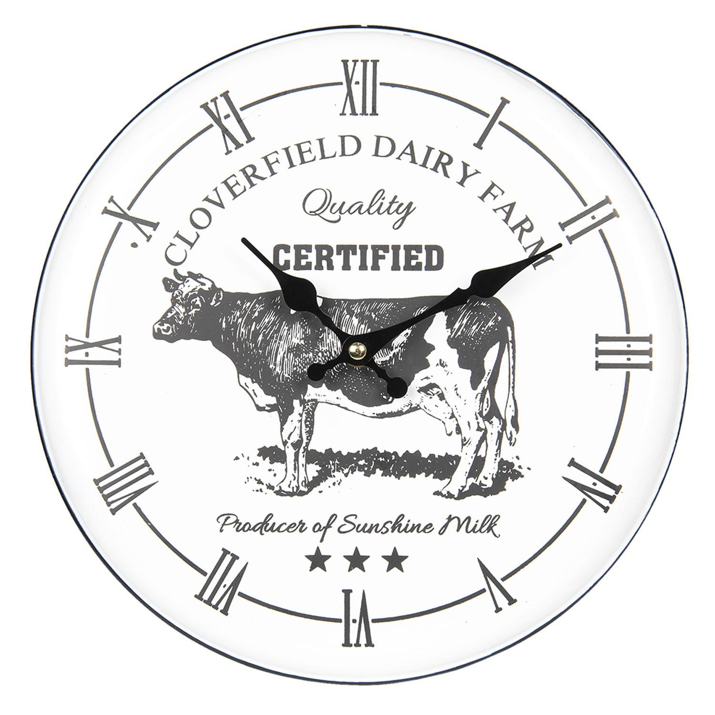 Kovové nástěnné hodiny Farm - Ø 29*4 cm / 1*AA