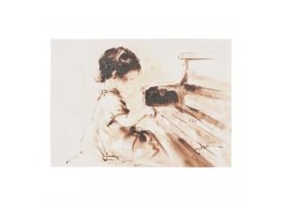 Obraz dívka s klavírem - 50*70*3 cm