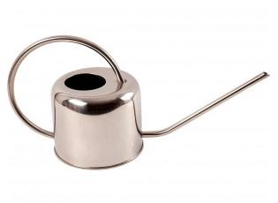 Stříbrná plechová konvička - 34,3*13,5*19,9 cm