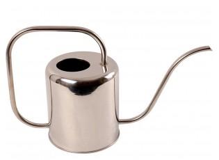 Stříbrná plechová konvička - 44*13*20 cm