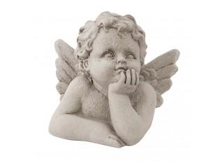 Šedý anděl s patinou - 8*6*7 cm