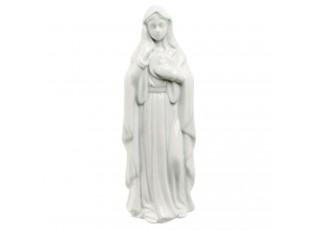 Bílá porcelánová panenka Marie - 6*6*18 cm
