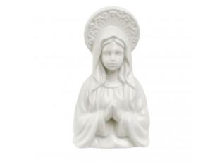 Bílá porcelánová panenka Marie - 7*7*13 cm