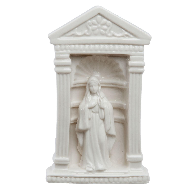 Clayre & Eef Bílá porcelánová panenka Marie - 11*7*18 cm