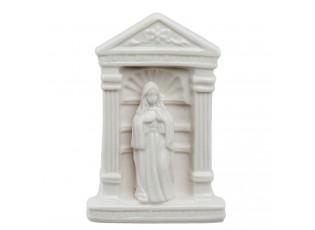 Bílá porcelánová panenka Marie - 9*7*14 cm