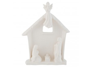 Bílý porcelánový Betlém - 18*6*23 cm