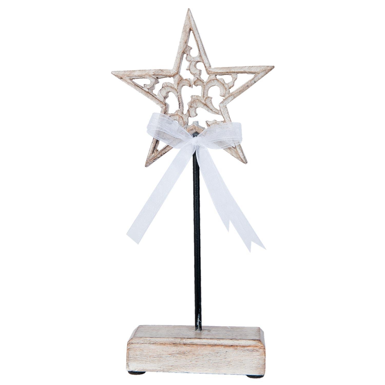 Levně Dekorace dřevěná hvězda - 12*3*28 cm