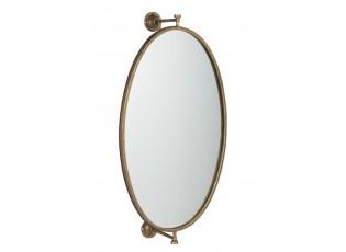 Zlaté nástěnné kovové zrcadlo antik gold -  36*20*70cm
